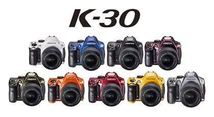 Pentax K-30 The Pentax K-30 is available in many different colors.