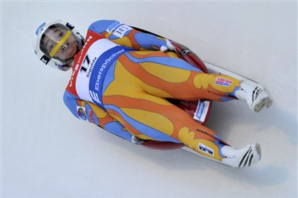 Latvia Luge World Cup United States' Kate Hansen speeds down the track of a women's race at the Luge World Cup event in Sigulda, Latvia, Saturday, Jan. 25, 2014. Hansen won the event.