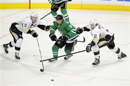 Penguins suffer 3-0 loss to Dallas