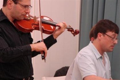 Recital Violinist Roger Zahab and pianist Robert Frankenberry will appear at Pitt's Bellefield Hall Auditorium for a concert beginning at 8 tonight.