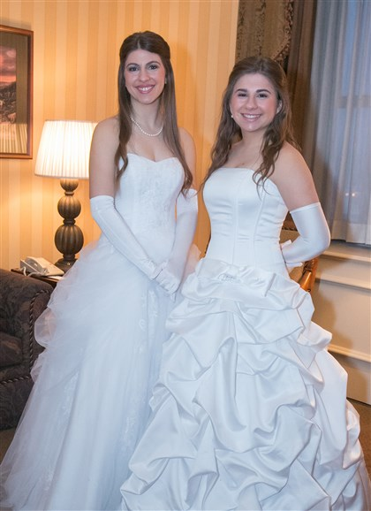 Cinderella From left, twins Lindsay Myer and Haley Myer.