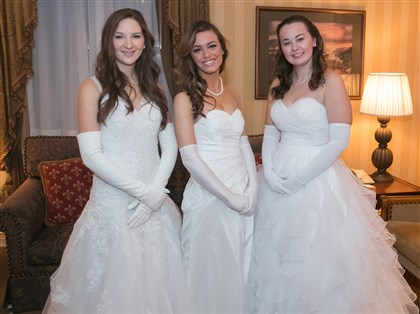 Cinderella From left, Amanda Murphy, Julia Bozzone and Campbell Konrad.