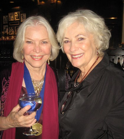 halloffame Honoree Ellen Burstyn and Betty Buckley at the Post Ceremony Theater Hall of Fame 2013 Dinner