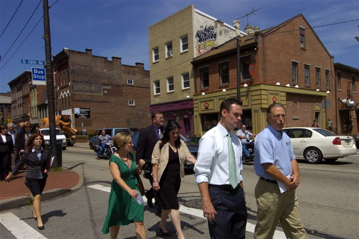 Mike Gable of Pittsburgh Public Works Mike Gable, right, seen here in 2007, walks alongside Mayor Luke Ravenstahl during walking tour of East Carson Street. After working for the city for 39 years, Mr. Gable has returned to lead the Public Works Department.