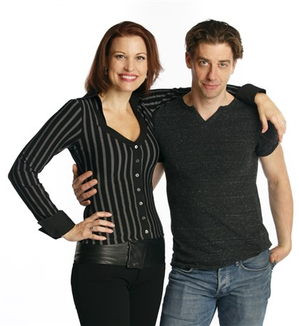 Rachel York and Christian Borle Rachel York and Christian Borle.