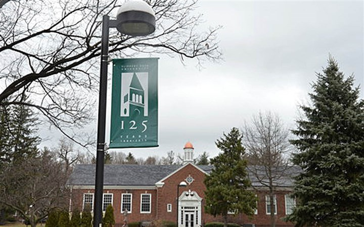 Slippery Rock University A Slippery Rock University psychology professor sued the school today, claiming he has been subjected to gender discrimination.