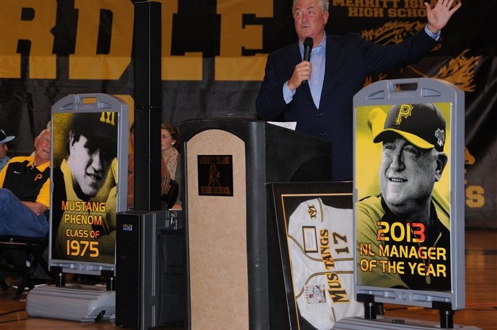 hurdle7-3 Pirates manager Clint Hurdle, who was named 2013 National League manager of the year by the BBWAA, gets a high school baseball field named after him in Merritt, Fla.