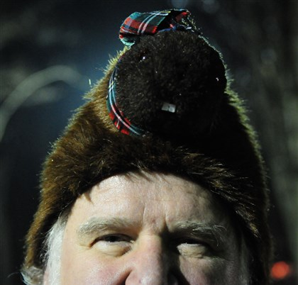 Tom Ruffner and his Punxsutawney Phil hat Tom Ruffner of Latrobe wears his Punxsutawney Phil hat.