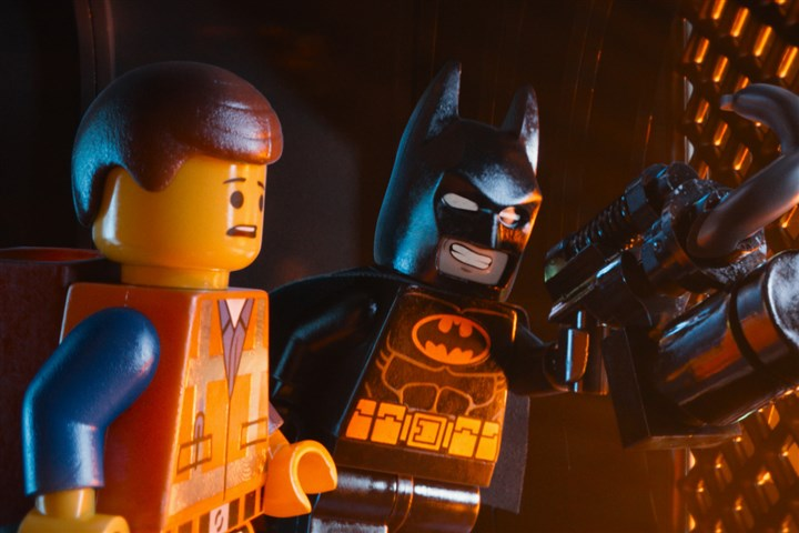 "'The Lego Movie' 02 Emmet (voiced by Chris Pratt) and Batman (voiced by Will Arnett) in ""The LEGO® Movie."""