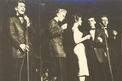 The Skyliners entertain at Stockdale in 1958.The original group was (from left) Jimmy Beaumont, Joe Verscharen, Janet Vogel, Jack Taylor and Wally Lester.