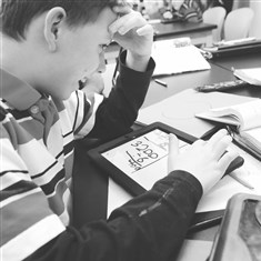 Tadem Lorenz Tadem Lorenz, 9, works through a math problem in his fourth-grade class at Twin Rivers Intermediate School In McKeesport.