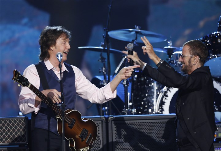 Beatles Sir Paul McCartney and Ringo Starr.