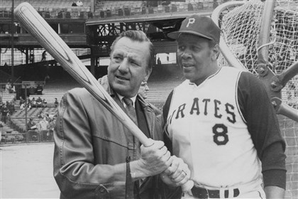 020614_kinerstargell.jpg Ralph Kiner and Willie Stargell at Forbes Field on April 6, 1970, during the field's final season.