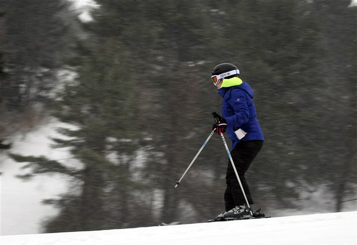 20140205jrBoyceLocal1 A skier takes to the slopes Wednesday at Boyce Park in Plum.