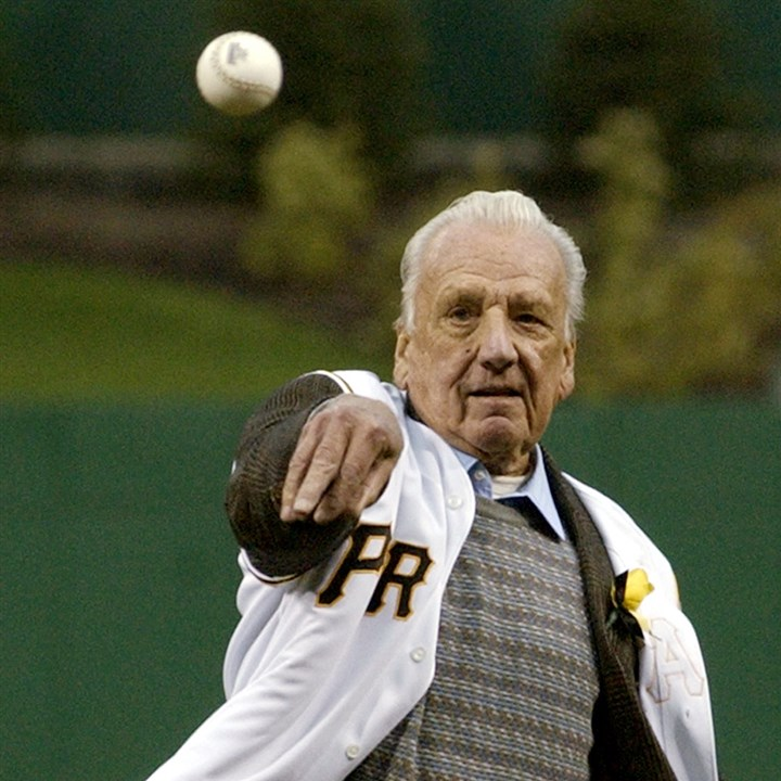 Ralph Kiner night Ralph Kiner throws out the first pitch prior to a Pirates vs. Brewers game in April 2003 at PNC Park.