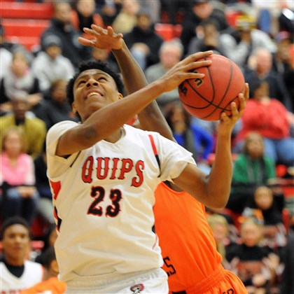 quips0208 Aliquippa's Patrick Anderson drives to the hoop against Beaver Falls Friday night.