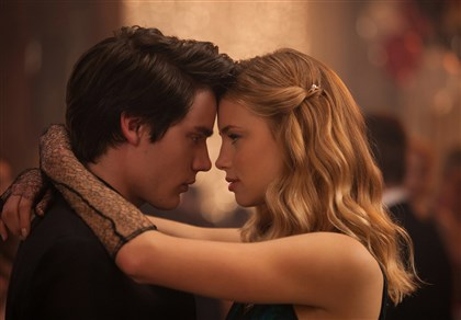 "VampireAcademy1-2 Dominic Sherwood, left, and Lucy Fry star in ""Vampire Academy."""