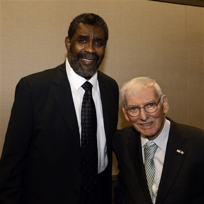 SEEN Dapper Dan - Greene, Rooney Joe Greene and Dan Rooney the 78th Annual Dapper Dan Dinner & Sports Auction.