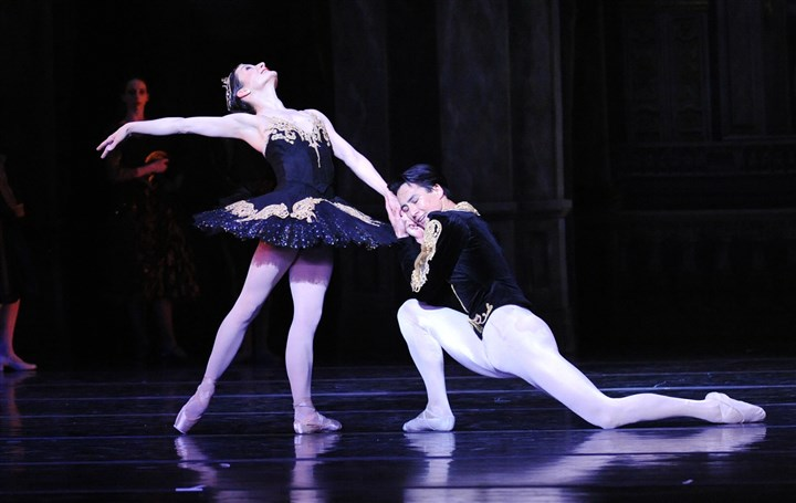 "Swan Lake In Pittsburgh Ballet Theatre's ""Swan Lake,"" Erin Halloran danced Odile and Nurlan Abougaliev was Prince Siegfried."