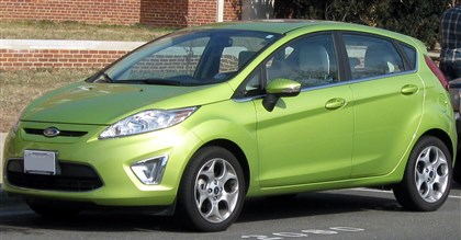2011 Ford Fiesta This is a stock photo of a 2011 Ford Fiesta in lime green. Sarah Wolfe's car like this was found early Saturday.