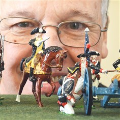 Toy soldiers David Frankowski's 50-year hobby of collecting and painting toy soldiers will be on display at the Neville House in Collier on Sunday.