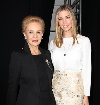 NY Fashion Week Carolina Herrera Designer Carolina Herrera, left, and Ivanka Trump backstage at the Carolina Herrera Fall 2014 show during Fashion Week in New York.