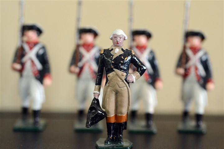 Toy soldiers This toy soldier representing George Washington is one of several in David Frankowski's collection.