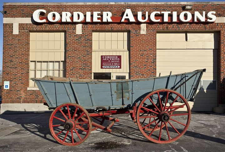 20140210hoAuctionLoc02-1 Among the items on the state's auction block is this Conestoga wagon.