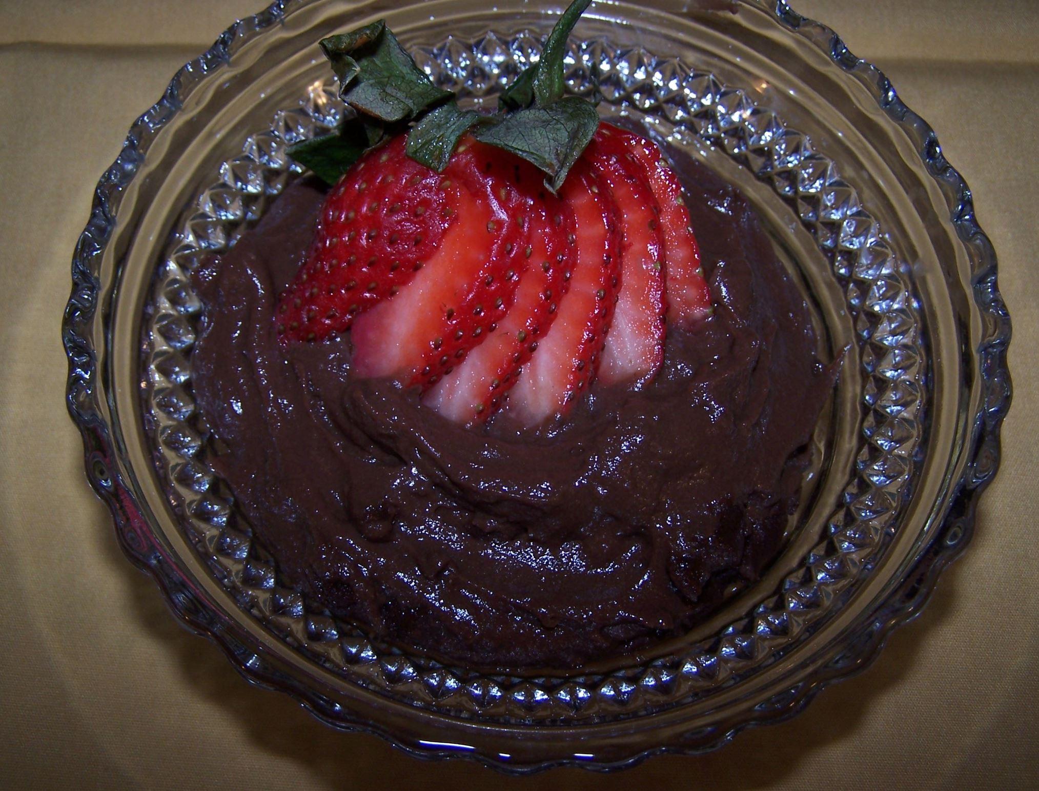 20140210hoBSpuddinfood-1 2 shots of Chocolate Pudding.