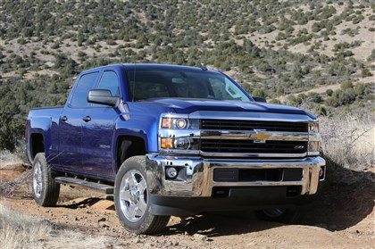 20140211SilveradoChevy The redesigned Chevrolet Silverado HD.