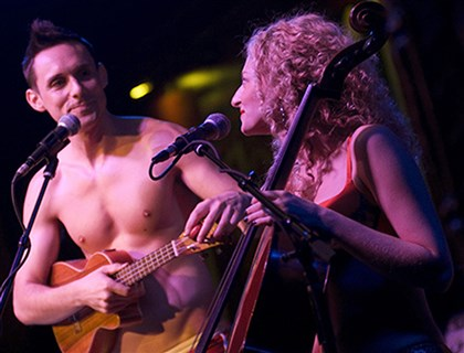 The Skivvies Nick Cearley and Lauren Molina are The Skivvies, a musical act from New York appearing Thursday through Sunday to Pittsburgh's City Theatre.