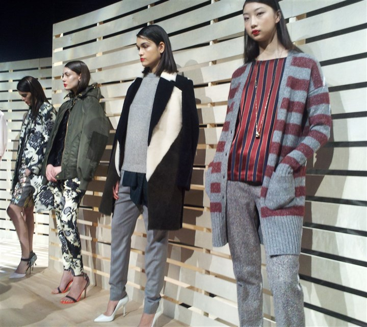 J.Crew Part of J.Crews fall/winter collection for women that was unveiled Tuesday at Fashion Week in New York.