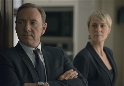 "HouseOfCards-2 Kevin Spacey, left, and Robin Wright in ""House of Cards"" on Netflix."