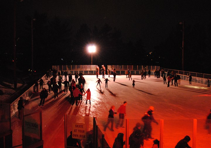 Schenley Park skating rink Valentines on Ice at Schenley Park Skating Rink.