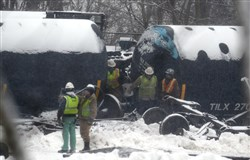 A train carrying oil derailed in February 2014 near Vandergrift.