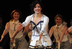 "Rachel Houser, center, of Quaker Valley High School was named the Best Actress and performed in ""Anything Goes"" at the 2013 Gene Kelly Awards for high school musical theater at the Benedum Center."