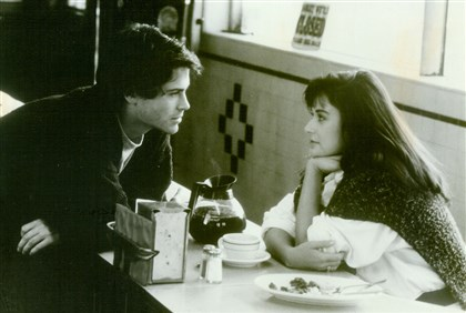 "20140214aboutlastnightorigi Rob Lowe and Demi Moore in ""About Last Night."" 1986."