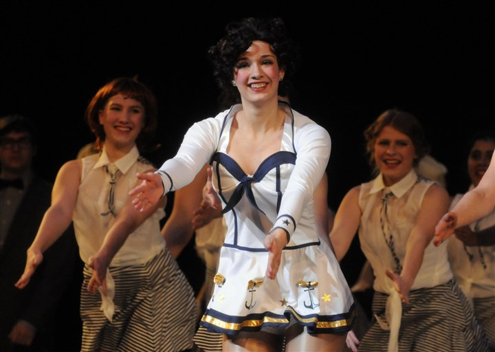 Houser-6 Rachel Houser, center, of Quaker Valley High School performs at the Benedum Center.