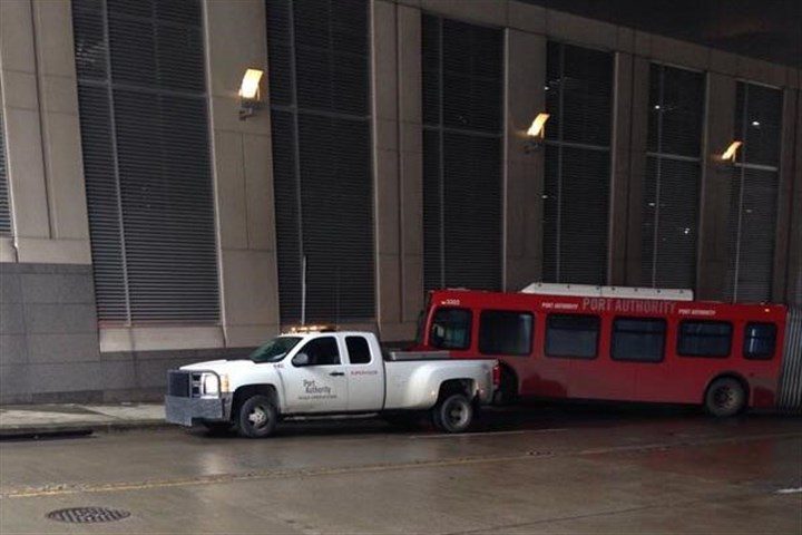 BNY Mellon bus crash.jpg A Port Authority bus crashed into a building in the BNY Mellon complex Downtown.