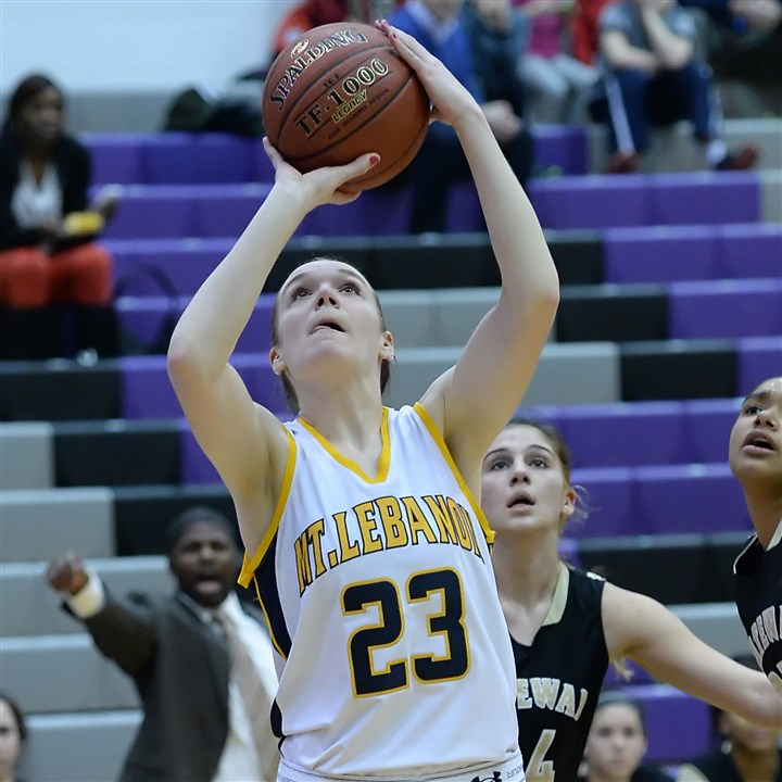 mtlebanon0215 Mt. Lebanon's McKenzie Bushee drives to the basket Friday night against Gateway in the first round of the Class AAAA WPIAL playoffs.