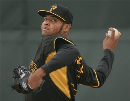 Pirates Pirates pitcher Stolmy Pimentel.