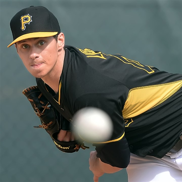locke0216 Pirates pitcher Jeff Locke delivers during a bullpen session Saturday morning at spring training.