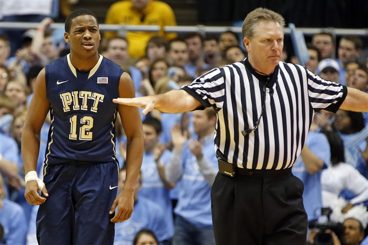 Pittsburgh N Carolina Basketball Pitt's Chris Jones reacts to a foul during the first half against North Carolina in Chapel Hill, N.C., Saturday.
