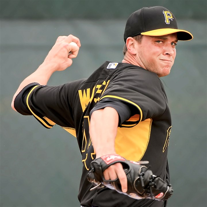 Pirates spring training, Tony Watson Pirates pitcher Tony Watson delivers during the bullpen session Saturday morning at Pirate City in Bradenton, Fla.