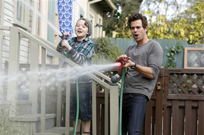 "Stockham, Walton in 'About a Boy' Benjamin Stockham as Marcus and David Walton as Will in ""About a Boy."""