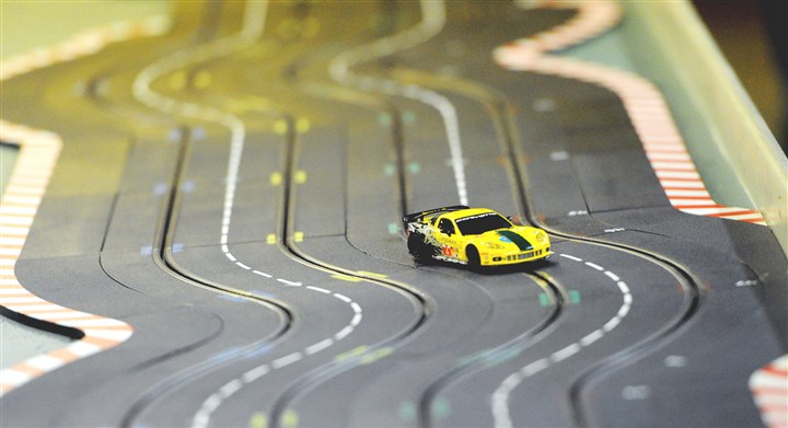Slot cars 6 The track on which the Pittsburgh Slot Car Racing League races weekly in Ross.