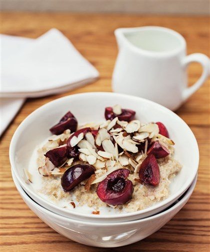 Oat Bran with Cherries and Almonds Oat Bran with Cherries and Almonds.