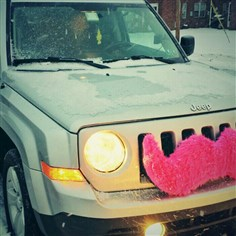 Lyft by David Kirven This Jeep in Pittsburgh is outfitted with Lyft's signature pink mustache. Lyft is a ride-sharing service that has drawn the scorn of traditional taxi companies in Pittsburgh.