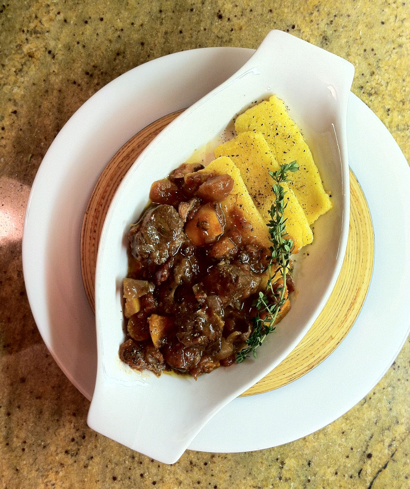 20131201ho_Lamb_food Lamb Shoulder Stew with Butternut Squash and polenta.