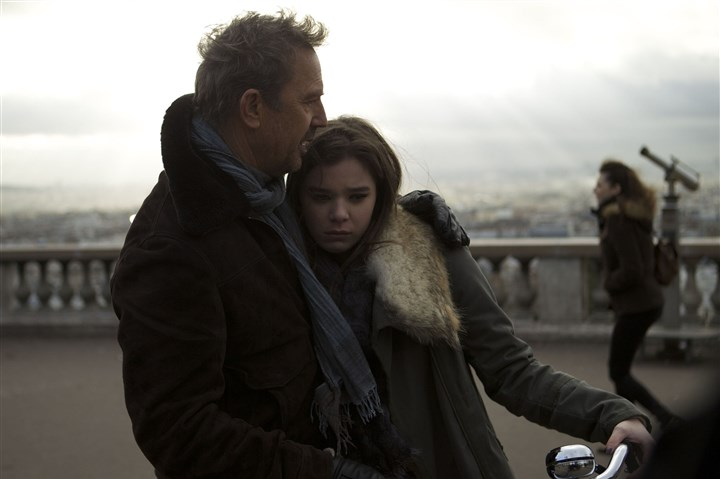 "Costner, Steinfeld in '3 Days to Kill.' Kevin Costner and Hailee Steinfeld star in ""3 Days to Kill."""